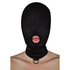 Mascara Bondage Mesh One Hole With D-ring Extreme Shots Hush Hush, Beanie, Mesh, Sensory Play, Ring, Walks, Cuffs, Toy, Cat Ears
