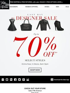 LAST DAY: Up To 70% OFF - Saks Fifth Avenue