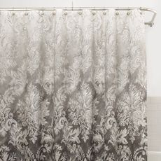 light grey and charcoal ombre shower curtain - bed bath and beyond