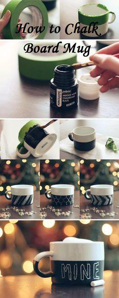 How to Chalk Board Mug!  witandwhistle.com...