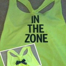 In The Zone Neon Work-out Racerback Tank Top