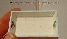 1:12 Scale Custom Order Reserved Two miniature dollhouse trays.  via Etsy.