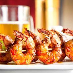 Homemade Barbecue Shrimp Skewers