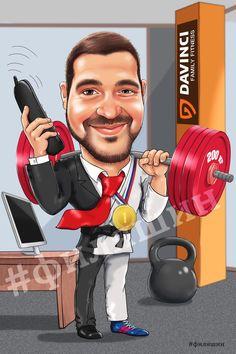 ШАРЖ НА ЗАКАЗ ПО ФОТО #шарж бизнесмена и спортсмена #филяшин #шарж #бизнесмен #фитнес #fitness #caricature #cartoonart #cartoon