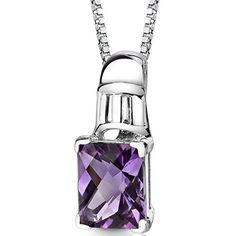 Stainless Steel Polished Amethyst CZ 2 Inch Extension Reversible Necklace 24 Inches
