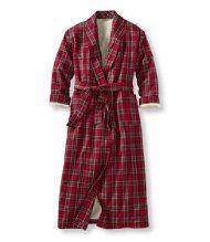 Women's Tartan Flannel-Lined Robe