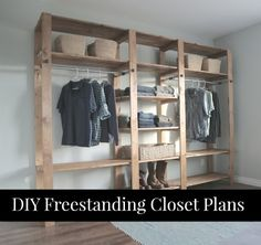 Free Plans To Build A Freestanding Closet | Building a versatile and freestanding closet is a great way to add additional storage to any room in your home.