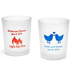 Personalized Frosted Votive Candle Holder- the perfect shot glass size!