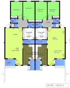 House plans for 2 bedroom semi detached cottages szukaj for Semi detached garage plans