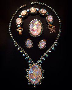 VINTAGE JULIANA D&E GEODE GRAND PARURE - NECKLACE BRACELET EARRINGS & BROOCH in Jewelry & Watches, Vintage & Antique Jewelry, Costume | eBay