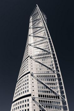 Turning Torso tower in Malmö, Sweden, by Santiago Calatrava