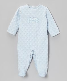 This Blue Car Minky Footie - Infant by Vitamins Baby is perfect! #zulilyfinds