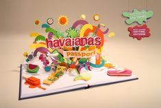 Havaianas Passport is a pop up book which shows the dynamics of the contest Havaianas Passport, using stop-motion and built in paper illustrations.