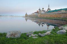 Утренний туман над Святым озером. Соловецкие острова