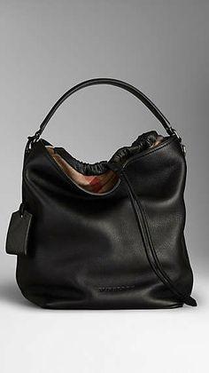 2db11cc764d Medium Brit Check Leather Hobo Bag Burberry Tote