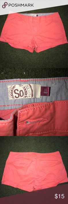 SO Coral Khaki Shorts No damage, and have never been worn. Comes from a smoke free home. SO Shorts