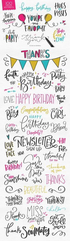 The Greeting Card & Catchword Kit by Callie Hegstrom on @creativemarket