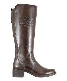 Look at this #zulilyfind! Marrone Innsbruck Leather Boot #zulilyfinds