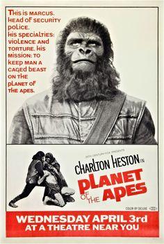 Framed Retro Movie Poster  Planet Of The Apes 1968 (Replica Print Cinema Film)