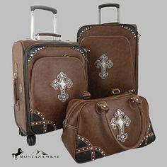 4.-Montana West Cross Luggage NCSL001 Brown-D