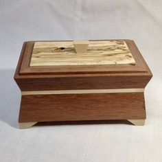 Custom made Art Deco style keepsake or jewelry box using recycled pallet wood from Malaysia. by SolsWoodworkingShop on Etsy