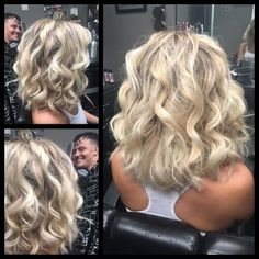Hairstyles Step By Step layered curly bob dirty blonde hair.Hairstyles Step By Step layered curly bob dirty blonde hair My Hairstyle, Pretty Hairstyles, Blonde Hairstyles, Medium Length Hairstyles, Bandana Hairstyles, Simple Hairstyles, Boho Hairstyles, Formal Hairstyles, Vintage Hairstyles