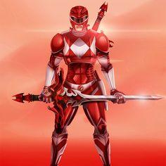 Artista reimagina os uniformes dos Power Rangers
