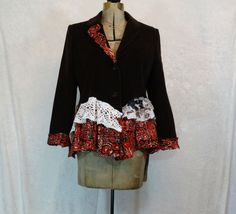 Upcycled Clothing / Brown Corduroy Jacket / by CuriousOrangeCat, $95.00