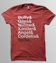 BUFFY The Vampire Slayer and Scooby Gang Unisex Men & Women T-Shirt