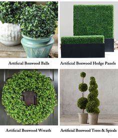 Artificial Boxwood Hedges products