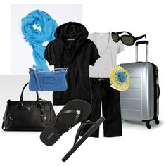 Fantastically Casual travel. The blue really perks it up! (Change accessory colour for your fave: pink, yellow, red, lime........)