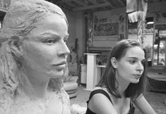 modèle et son buste - Lartigue Fictional Characters, Art, Face, Fantasy Characters