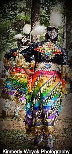 Indian Women Jingle Dress Dancers by Kim Woyak on Capture Wisconsin // Menominee Nation Pow-Wow, held in Keshena WI February 2015 Native American Dress, Native American Regalia, Native American Photos, American Indian Art, Native American History, American Symbols, Powwow Beadwork, Powwow Regalia, Pow Wow