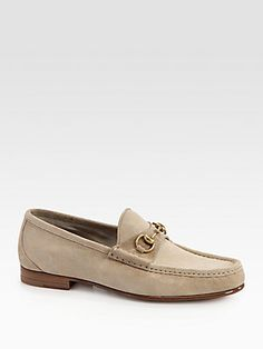 Gucci Roos Suede Horsebit Loafer