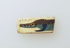 A Romano-Egyptian Fragmentary Mosaic Glass Inlay Depicting a Nilotic Crocodile - Mosaic glass, late 1st century B.C.E. - early 1st century C.E.