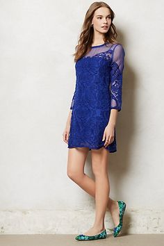 Perfect dress to buy now for Spring and into next Fall for the sheerness and texture.