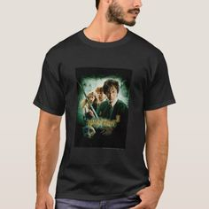 Harry Potter Ron Hermione Dobby Group Shot T-Shirt Harry Potter Harry Potter Ron And Hermione, Harry Potter Gifts, Tee Shirts, Tees, Dobby, Tshirt Colors, Colorful Shirts, Fitness Models, Shirt Designs
