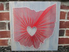 String Art State Any State Ohio State Buckeyes by AJLyonsDesigns, $95.00