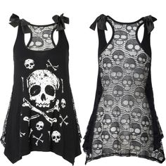 Jawbreaker // Bones and Skull Lace Tank