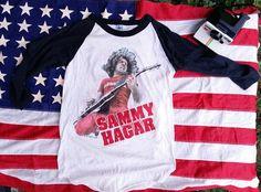 Vintage Sammy Hagar tee shirt jersey shirt by bingeonvintage  #vintage #rock #punk #fashion