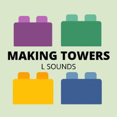 Boom Cards - Make a tower: /l/ sound Speech Therapy, Card Making, Tower, Author, Student, Activities, Learning, Words, How To Make