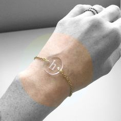 Custom Initial Bracelet  Wedding Bridesmaid Gift by FabParlor, $12.00