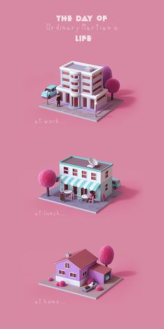 Martian personal project on Behance Isometric Art, Isometric Design, House Illustration, Graphic Design Illustration, Indian Illustration, Environment Concept Art, Environment Design, Web Design, Game Design