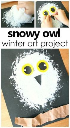 Snowy Owl Winter Art Project for Kids . Arctic Animal Theme Activity #artforkids #kidsactivities #prek