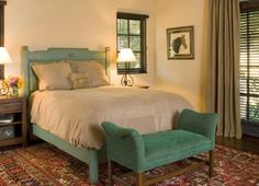 turquoise rustic bed, not so utterly masculine Rustic Bedroom Sets, Rustic Bedding, Home Bedroom, Bedroom Ideas, Big Girl Rooms, California Homes, Rustic Furniture, My Room, Sweet Home