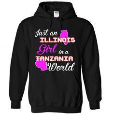 Illinois-Tanzania Girl - #anniversary gift #money gift. GUARANTEE  => https://www.sunfrog.com//Illinois-Tanzania-Girl-8500-Black-Hoodie.html?id=60505