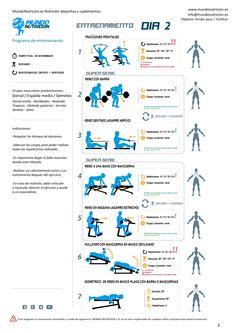 Semana de 5 días de entrenamiento ideal chicas - Mundo Nutrición. Nutrición deportiva y suplementos. Día 2 Rutina de espalda y gemelos.