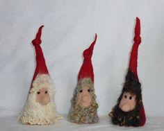 Nikolaus & Weihnachtsmann - Filzwichtel Gnom Eierwärmer - ein Designerstück von CH-FilzKunst bei DaWanda