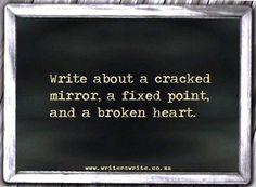 cracked mirror, fixed point, broken heart