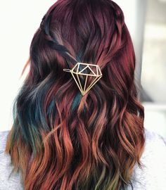 47 Adorable Hair Color Ideas For This Winter To Try 47 adorable Haarfarbe Ideen für diesen Winter, um zu versuchen, Cute Hair Colors, Hair Dye Colors, Cool Hair Color, Unique Hair Color, Hair Color For Spring, Rainbow Hair Colors, Hair Colour Ideas, Rainbow Dyed Hair, Fall Winter Hair Color